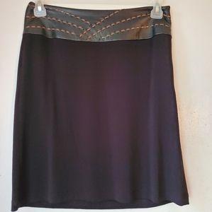 3/25 Vakko New York Womens Black Shirt Sz:8•EUC